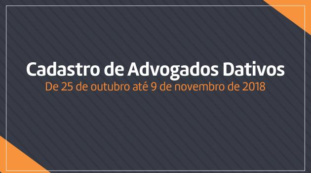 Inscrições para cadastro de advogados dativos para as comarcas do Poder Judiciário do Estado do Acre