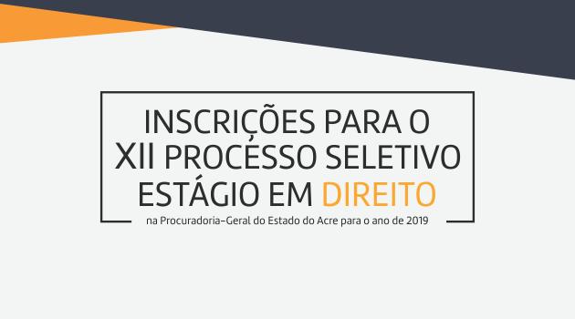 Inscrições Deferidas: XII Processo Seletivo de Estágio