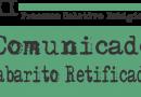 COMUNICADO DE RETIFICAÇÃO DE GABARITO
