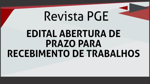 EDITAL REVISTA PGE