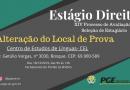 ALTERAÇÃO DO LOCAL DE PROVA DO PROCESSO SELETIVO ESTÁGIO PGE