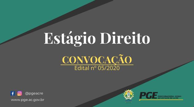 Edital 05-2020 – Convocação
