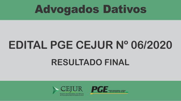 Advogados Dativos – Resultado Final