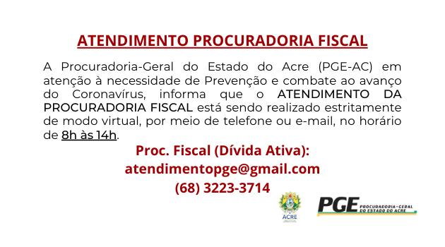 Atendimento Procuradoria Fiscal