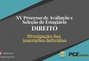 XV PROCESSO SELETIVO PARA ESTÁGIO NA ÁREA DE DIREITO – EDITAL Nº 07/2020